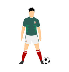 mexico football jersey national team world cup vector image