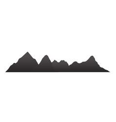 Mountain silhouettes overlook rocky hills vector