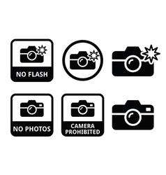 no photos cameras flash icons vector image