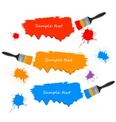 paint brushes and banners vector image