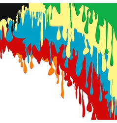 Paint dripping background vector