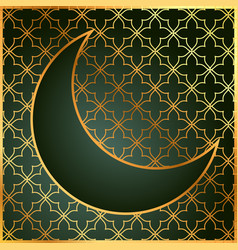 Pattern background with moon in golden color vector