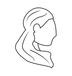portrait woman bride outline vector image