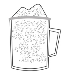 Protein shake icon vector
