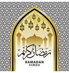 Ramadan graphic background Ramadan Kareem vector