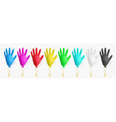 Realistic colorful medical latex glove balloon vector
