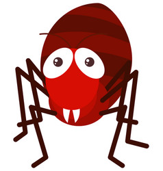 red ant on white background vector image