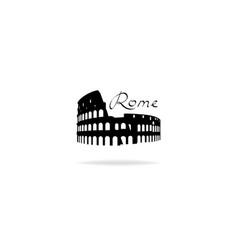 rome travel landark coliseum italian famous place vector image