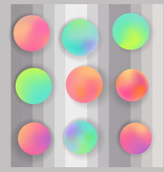 round gradient set modern abstract backgrounds vector image