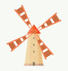 rural windmill in flat style vector image