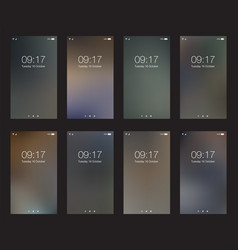 Set abstract dark vertical hd wallpapers for vector