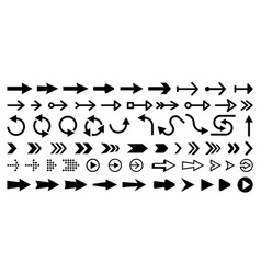 set isolated next or right move arrows vector image