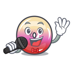 singing jelly ring candy mascot cartoon vector image