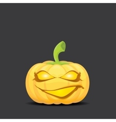 Smiling halloween pumpkin background vector