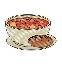soup delicious food vector image