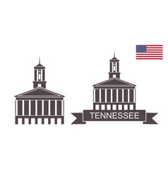 state tennessee vector image