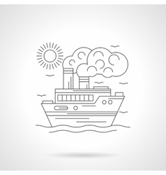 Steamship detailed line vector