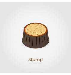 Stump isometric vector