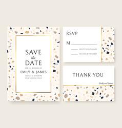 terrazzo wedding invitation card abstract design vector image