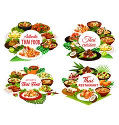 thailand food restaurant round banners vector image