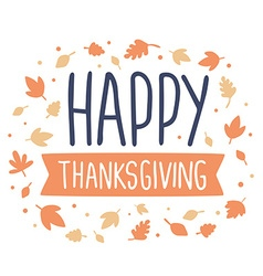 thanksgiving with text happy thanksgiving r vector image