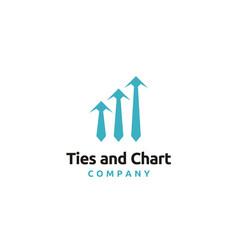 Tie business finance chart statistic diagram logo vector