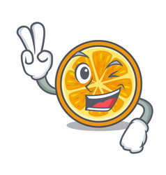 two finger orange character cartoon style vector image
