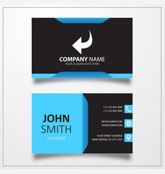 Undo icon business card template vector