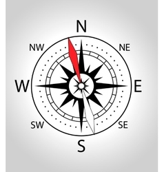 Wind rose compass icon vector image