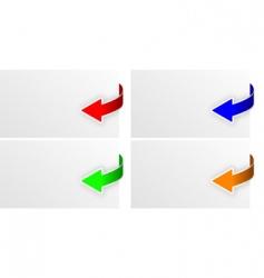 arrow vector image vector image