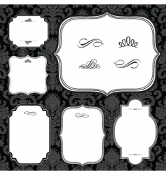 frames and black pattern vector image vector image