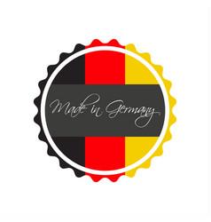 made in germany symbol german sticker vector image vector image