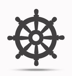 helm steering wheeli llustration on white vector image