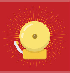 ringing fire alarm bell vector image