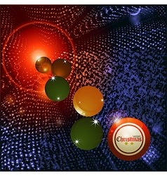 Christmas bingo ball and baubles background vector image vector image