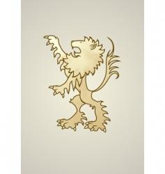 heraldry lion vector image vector image