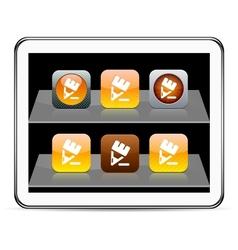 Pencil orange app icons vector image