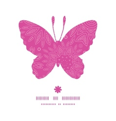 pink abstract flowers texture butterfly silhouette vector image