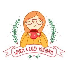 Warm and cozy vector image
