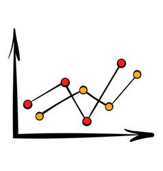 arrow graph icon icon cartoon vector image vector image