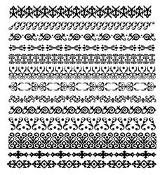 Border decoration elements pattern vector