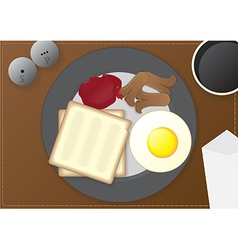breakfast on the table vector image