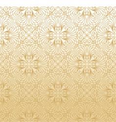 damask gold background vector image