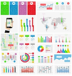 Ui elements of infographics collection vector image vector image