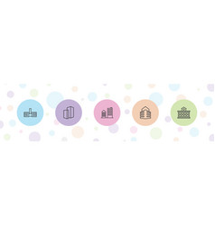 5 perspective icons vector