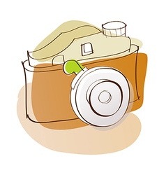 A camera is placed vector