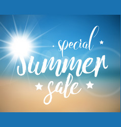 Abstract summer sale poster vector