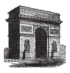 Arch of triumph sizes vintage engraving vector