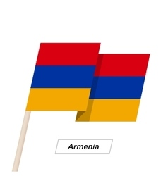 Armenia Ribbon Waving Flag Isolated on White vector image