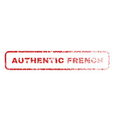 authentic french rubber stamp vector image vector image